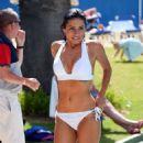 Roxanne Pallett in White Bikini in Portugal - 454 x 817