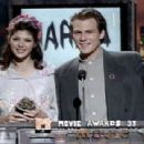 Marisa Tomei and Christian Slater At The 1993 MTV Movie Awards