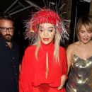 Rita Ora – Stylish in red at The Chiltern Firehouse in London