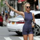 Candice Swanepoel hails a cab in New York City - 454 x 756