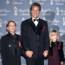 Dakota Johnson with her father Don Johnson and brother Jesse at the Peoples Choice Awards in LA in 1997 when she was just eight