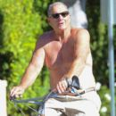 Ed O'Neill spends time biking on October 1, 2015
