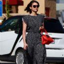 Nina Dobrev in Long Dress – Out in LA - 454 x 681