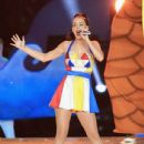 Katy Perry performs during the Pepsi Super Bowl XLIX Halftime Show at University of Phoenix Stadium on February 1, 2015 in Glendale, Arizona