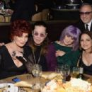 Ozzy Osbourne and his family attend the 56th pre Grammy gala on January 25th, 2014 - 454 x 302