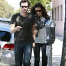 Kate Beckinsale And Len Wiseman Leaving The Byron And Tracey Salon