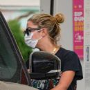 Ashley Benson – seen at a gas station in Los Angeles