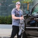 Matt Damon is seen leaving the gym after enjoying a workout on January 28, 2015 in West Hollywood, California