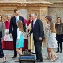 King Felipe VI of Spain, Queen Letizia of Spain attended Easter Mass in Palma  (April 1, 2018) - 454 x 313