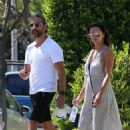 Eva Longoria – Wearing white summer dress while house hunting in Beverly Hills