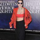 Bella Thorne – 'Halloween Horror Nights' Opening in Los Angeles - 454 x 649