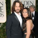 Musician Chris Cornell and Vicky Karayiannis arrive at the 69th Annual Golden Globe Awards on January 15th, 2012