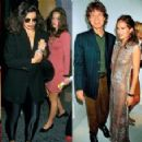 From left: Jade and Assisi in London, 2005; Bianca and Jade in New York, 1988; Mick and Jade in London, 1999; Assisi with grandmother Bianca in London, 2011 - 454 x 227