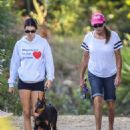 Kendall Jenner – Hiking in Malibu with doberman and dad in Malibu