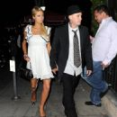 Paris Hilton And Benji Madden At Il Sole Restaurant, 2008-09-03