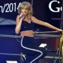 Taylor Swift performs on stage at the Dick Clark's New Year's Rockin' Eve