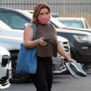 Justina Machado – Seen arriving for practice at the DWTS studio in Los Angeles