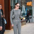Gigi Hadid in Grey Outfit – Out in NYC