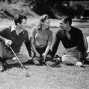 Barbara Stanwyck and Robert Taylor with Clark Gable