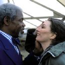 Henry Sherman (Danny Glover) and Ethen Tenenbaum (Anjelica Huston) in Touchstone's The Royal Tenenbaums - 2001
