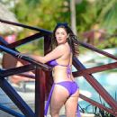 Casey Batchelor in Blue Bikini at a pool in Dominican Republic - 454 x 681