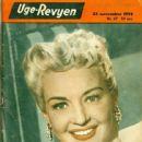 Betty Grable - Uge-Revyen Magazine Cover [Denmark] (23 November 1954)