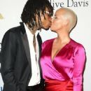 Amber Rose and Wiz Khalifa attend Pre-GRAMMY Gala and Salute to Industry Icons Honoring Debra Lee at The Beverly Hilton in Los Angeles, California - February 11, 2017