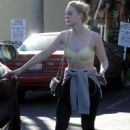 Elle Fanning in Tights and Sports Bra – Hits the gym in LA
