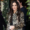 Cheryl Tweedy in Animal Print Coat – Scott's Eatery in Mayfair