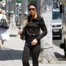 Paris Hilton: out of a business meeting in Beverly Hills