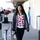 Victoria Justice Arriving On A Flight At Lax Airport In Los Angeles