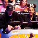 Ariana Grande and her Fiance Pete Davidson at Disneyland