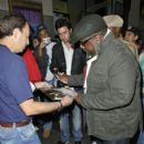 "Cedric The Entertainer is seen posing for photos and signing autographs after appearing on the""Late Night with Jimmy Fallon Show"" in New York"