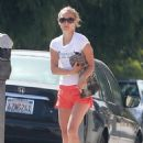 Natalie Portman In Shorts At Pilates Class In Los Feliz