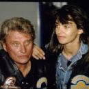 Adeline Blondieau and Johnny Hallyday