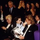 Adeline Blondieau and Johnny Hallyday