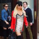 Jessica Simpson in Mini Dress out in New York City