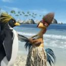 Cody Maverick (voiced by Shia LaBeouf, left) and Chicken Joe (voiced by Jon Heder, right) in Columbia Pictures/Sony Pictures Animation's Surf's Up.
