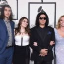 Nick Simmons, Sophie Simmons, musician Gene Simmons, and actress Shannon Tweed attend The 58th GRAMMY Awards at Staples Center on February 15, 2016 in Los Angeles, California.
