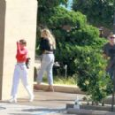 Sofia Richie – Having lunch with friends and a dog in Malibu
