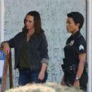 Jennifer Love Hewitt on the set of '9-1-1' in Los Angeles - 454 x 352