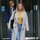 Kimberley Walsh – Exits Radio 5 studio in London - 454 x 681