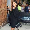 Diane Guerrero – wearing a short black outfit at 'The Daily Show with Trevor Noah' in New York