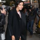 Padma Lakshmi Leaving Her Apartment In New York