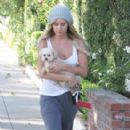 Ashley Tisdale: Walking round her neighbourhood with Maui