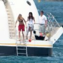 Selena Gomez Wearing A Swimsuit On A Boat In St Tropez