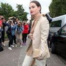 Lily James – Arrives at Burberry Fashion Show at LFW in London - 454 x 681