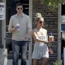 Ashley Tisdale and Scott Speer: leave the Coffee Bean in Los Angeles