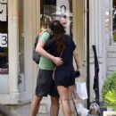 Helena Christensen – With a mystery man in NYC - 454 x 576