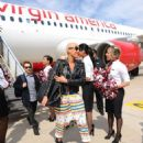 Amber Rose attends the Launch of Virgin America's First Flight from Los Angeles to Philadelphia at Los Angeles International Airport in Los Angeles, California - April 4, 2012 - 454 x 569